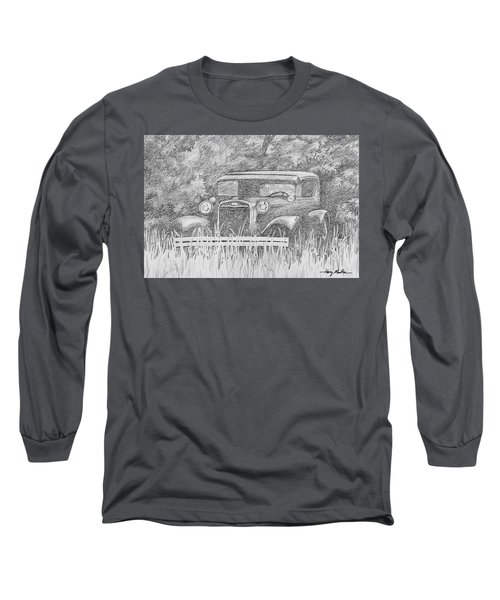 Old Car At Rest Long Sleeve T-Shirt