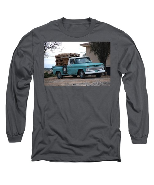 Long Sleeve T-Shirt featuring the photograph Old Chevy by Rob Hans