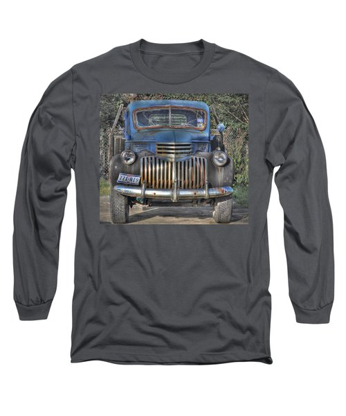 Long Sleeve T-Shirt featuring the photograph Old Chevy Truck by Savannah Gibbs