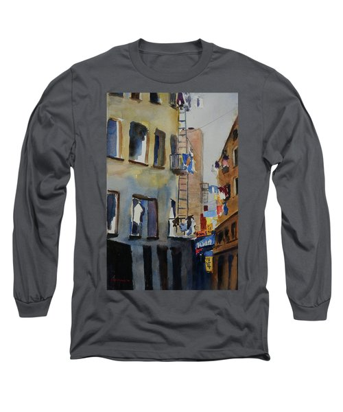 Old Chinatown Lane Long Sleeve T-Shirt by Tom Simmons