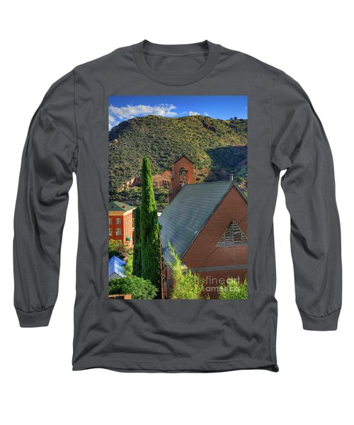 Old Church In Bisbee Long Sleeve T-Shirt