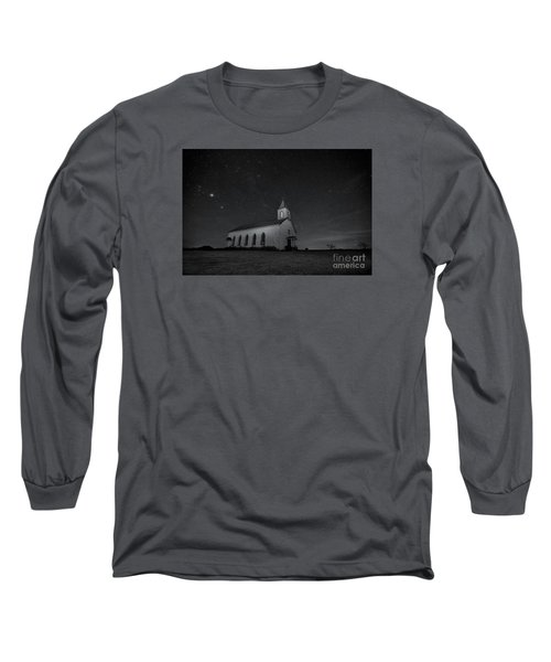 Long Sleeve T-Shirt featuring the photograph Old Country Church by Keith Kapple