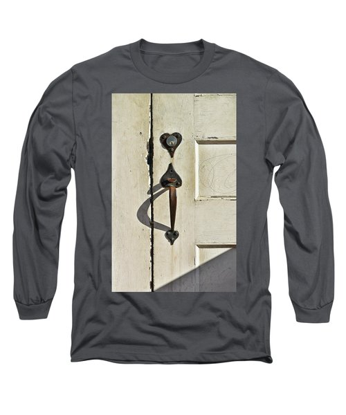 Old Door Knob 3 Long Sleeve T-Shirt by Joanne Coyle