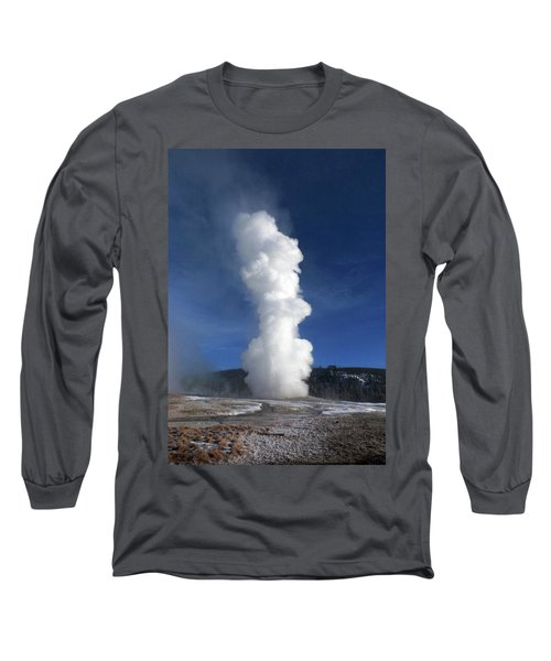 Old Faithful In Winter 2 Long Sleeve T-Shirt