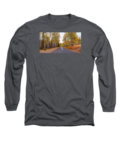 Old Fall River Road With Changing Aspens - Rocky Mountain National Park - Estes Park Colorado Long Sleeve T-Shirt