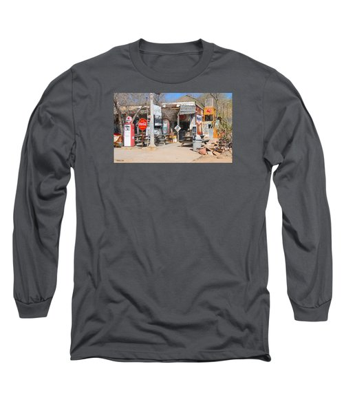 Old Gas Station, Historic Route 66 Long Sleeve T-Shirt