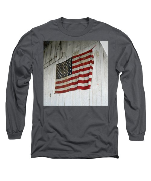 Old Glory Long Sleeve T-Shirt by Laurel Powell