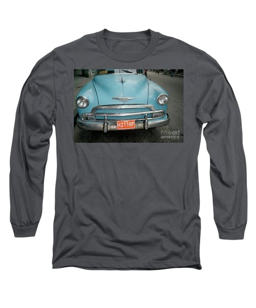 Old Havana Cab Long Sleeve T-Shirt by Quin Sweetman