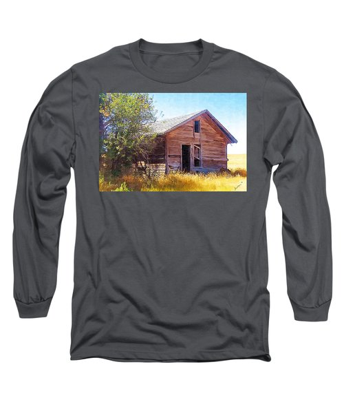 Long Sleeve T-Shirt featuring the photograph Old House by Susan Kinney