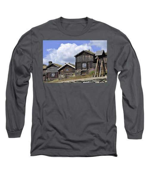 Old Houses In Roeros Long Sleeve T-Shirt by Thomas M Pikolin