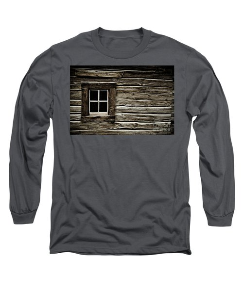 Long Sleeve T-Shirt featuring the photograph Old Log Cabin by Brad Allen Fine Art