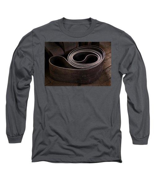 Old Machine Belt Long Sleeve T-Shirt by Tom Singleton