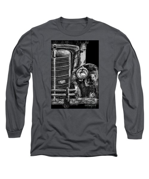 Old Mack Truck Front End Long Sleeve T-Shirt by Walt Foegelle