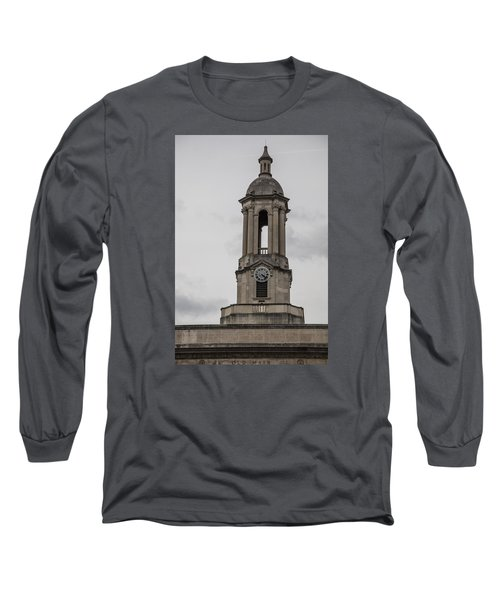 Old Main From Front Clock Long Sleeve T-Shirt by John McGraw