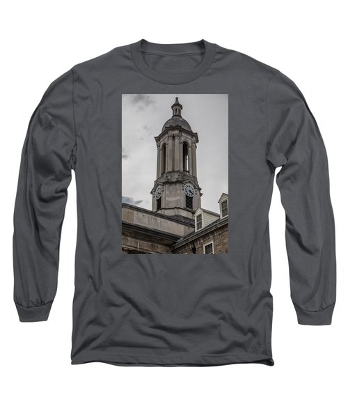 Old Main Penn State Clock  Long Sleeve T-Shirt by John McGraw