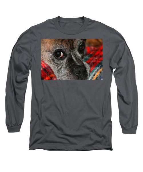 Long Sleeve T-Shirt featuring the photograph Old Man Boxer by Debbie Stahre