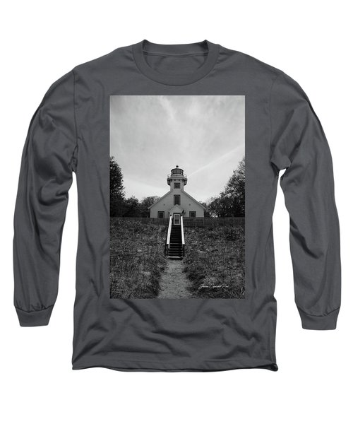 Old Mission Point Lighthouse Long Sleeve T-Shirt by Joann Copeland-Paul