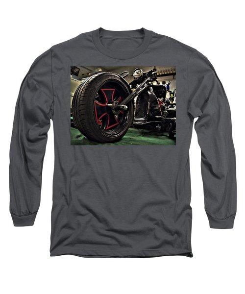 Old Motorbike Long Sleeve T-Shirt by Tamara Sushko