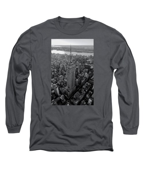 Long Sleeve T-Shirt featuring the photograph Old New New York  by Anthony Fields
