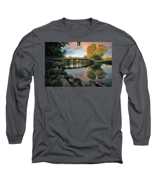 Old North Bridge Long Sleeve T-Shirt by Rick Berk