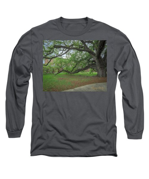 Long Sleeve T-Shirt featuring the photograph Old Oak Tree by Gregory Daley  PPSA