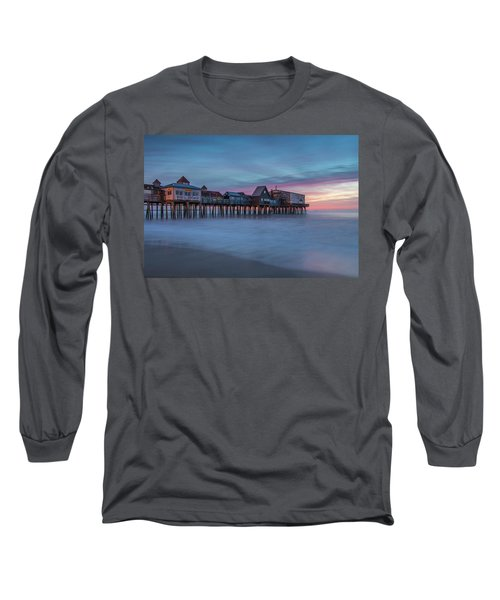 Old Orcharch Beach Pier Sunrise Long Sleeve T-Shirt