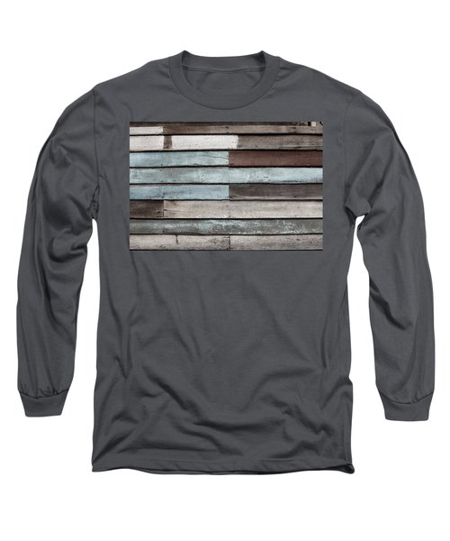 Old Pale Wood Wall Long Sleeve T-Shirt by Jingjits Photography