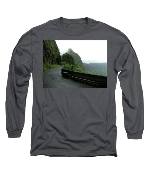 Long Sleeve T-Shirt featuring the photograph Old Pali Road, Oahu, Hawaii by Mark Czerniec