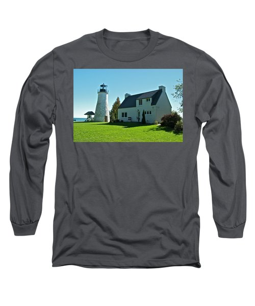 Old Presque Isle Lighthouse_9480 Long Sleeve T-Shirt by Michael Peychich