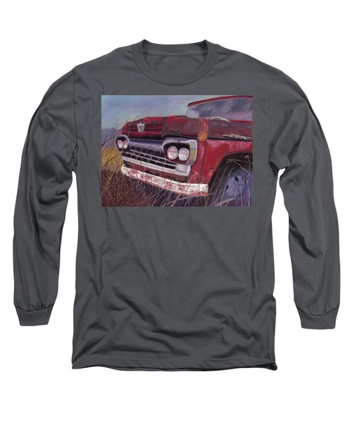 Long Sleeve T-Shirt featuring the painting Old Red by Arlene Crafton