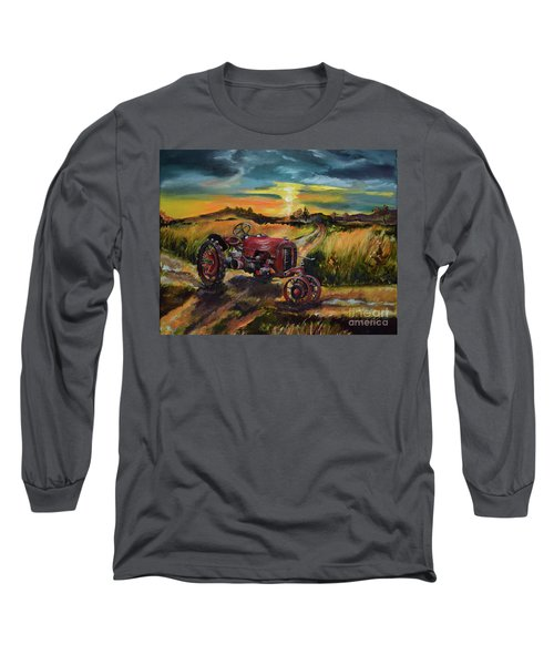 Old Red At Sunset - Tractor Long Sleeve T-Shirt