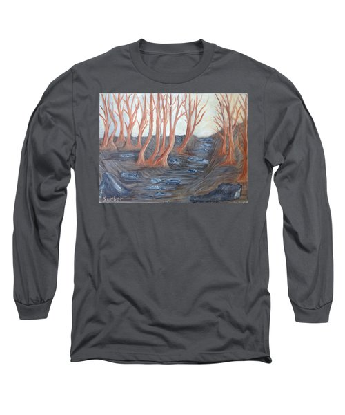Old Road Through The Trees Long Sleeve T-Shirt