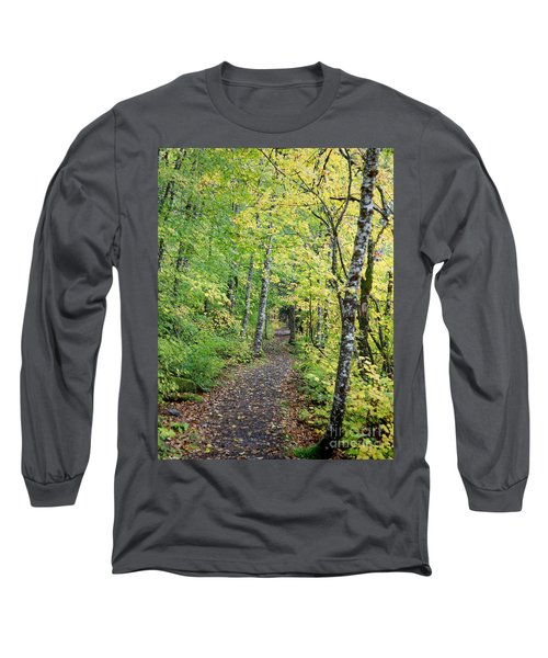 Long Sleeve T-Shirt featuring the photograph Old Rr Right-away by Peter Simmons