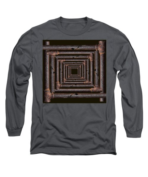 Long Sleeve T-Shirt featuring the mixed media Old Rusty Pipes by Viktor Savchenko