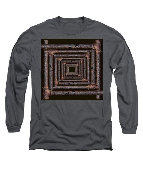 Old Rusty Pipes Long Sleeve T-Shirt by Viktor Savchenko