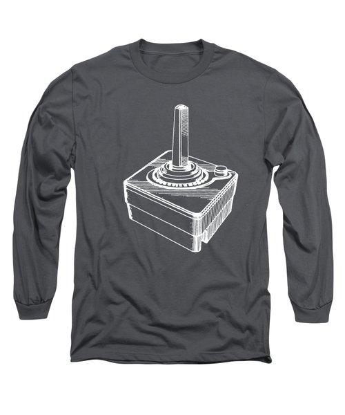 Old School Atari Video Game Controller White T-shirt Long Sleeve T-Shirt