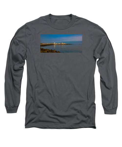 Old Scituate Light From The Jetty Long Sleeve T-Shirt by Brian MacLean