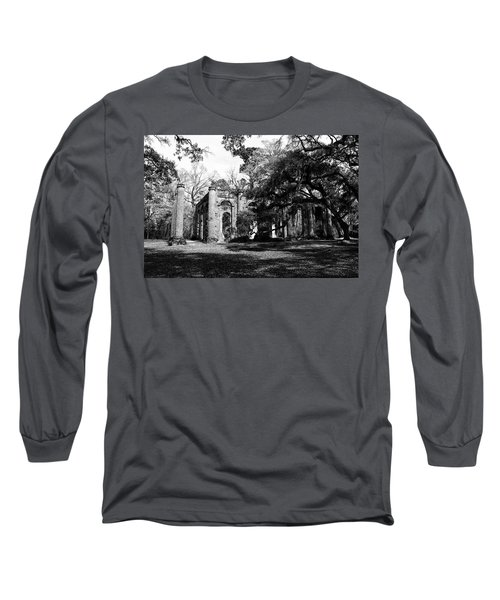 Long Sleeve T-Shirt featuring the photograph Old Sheldon Church  by Gary Wightman