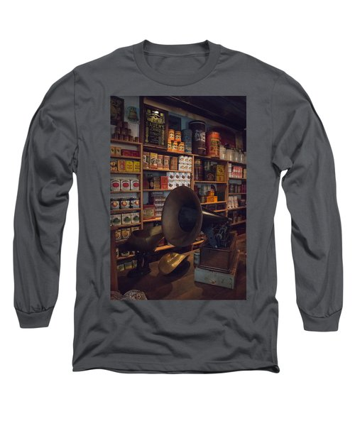 Long Sleeve T-Shirt featuring the photograph Old Shopping Days by Kathleen Scanlan