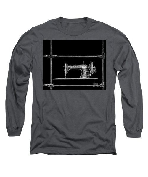 Old Singer Sewing Machine Long Sleeve T-Shirt by Walt Foegelle