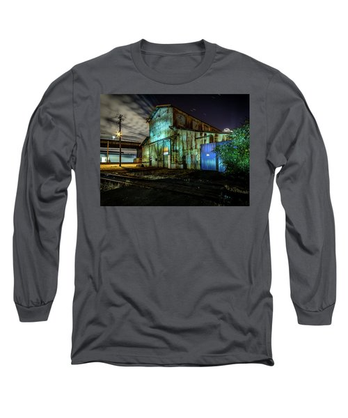 Old Tacoma Industrial Building Light Painted Long Sleeve T-Shirt