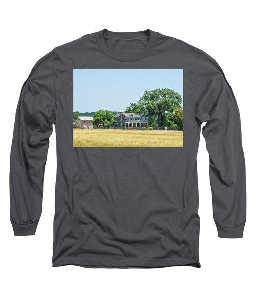 Old Texas Farm House Long Sleeve T-Shirt
