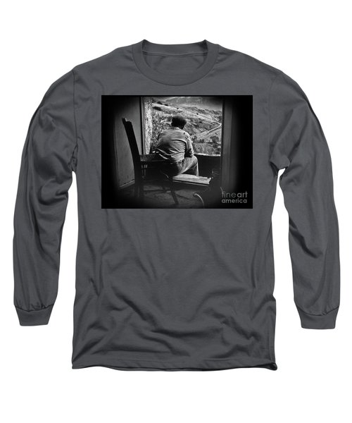 Long Sleeve T-Shirt featuring the photograph Old Thinking by Bruno Spagnolo