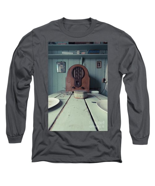 Long Sleeve T-Shirt featuring the photograph Old Time Kitchen Table by Edward Fielding