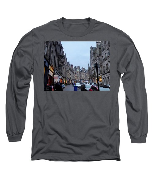 Old Town Edinburgh Long Sleeve T-Shirt by Margaret Brooks