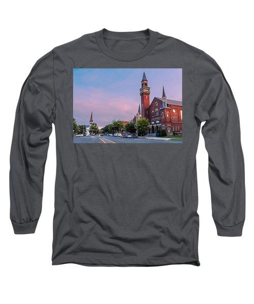 Old Town Hall Sunset Sky Long Sleeve T-Shirt