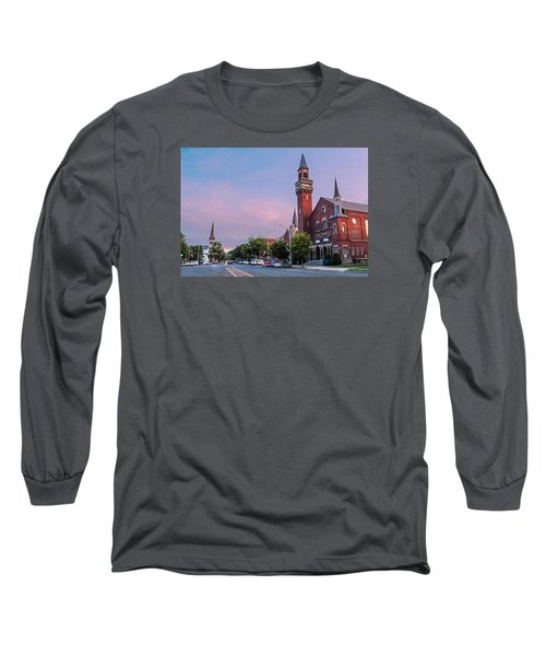 Old Town Hall Sunset Sky Long Sleeve T-Shirt