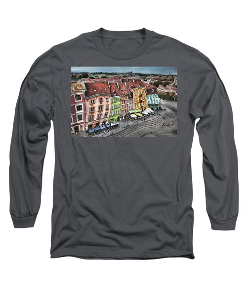 Old Town In Warsaw #20 Long Sleeve T-Shirt