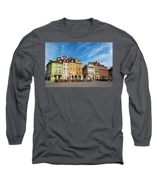 Long Sleeve T-Shirt featuring the photograph Old Town Warsaw by Chevy Fleet