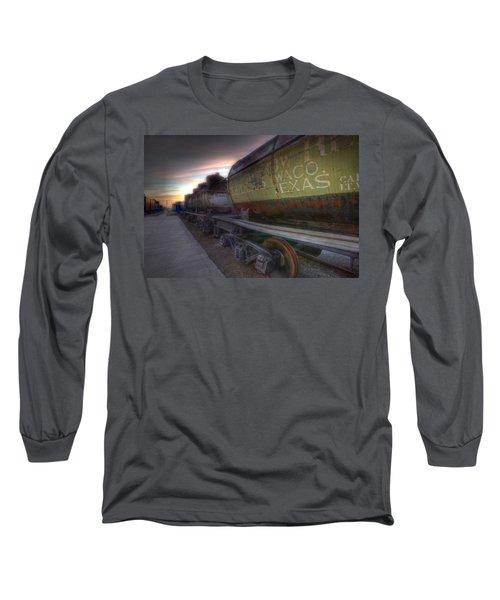 Old Train - Galveston, Tx 2 Long Sleeve T-Shirt by Kathy Adams Clark